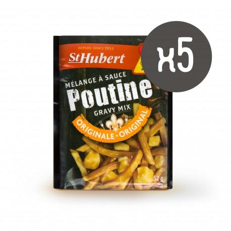 5 sachets de sauce poutine St-Hubert