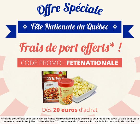 Promo Fête Nationale Québec